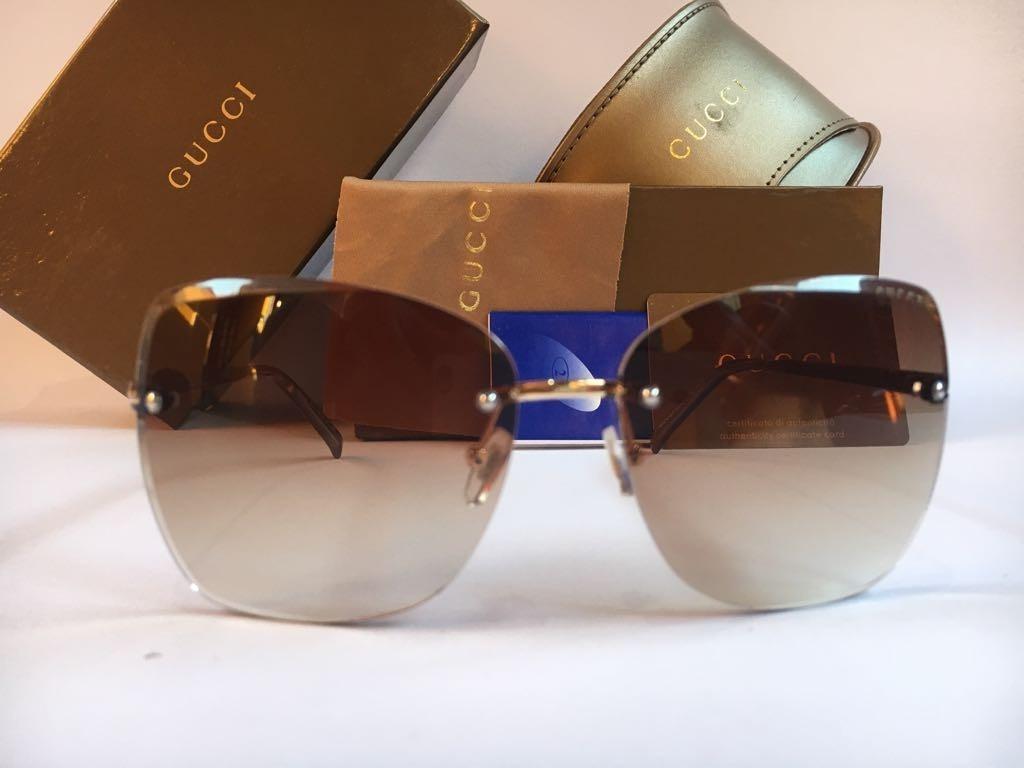 184255d6fa9a3 Oculos De Sol Feminino Gucci Original Quadrado Frete Grátis - R  389 ...