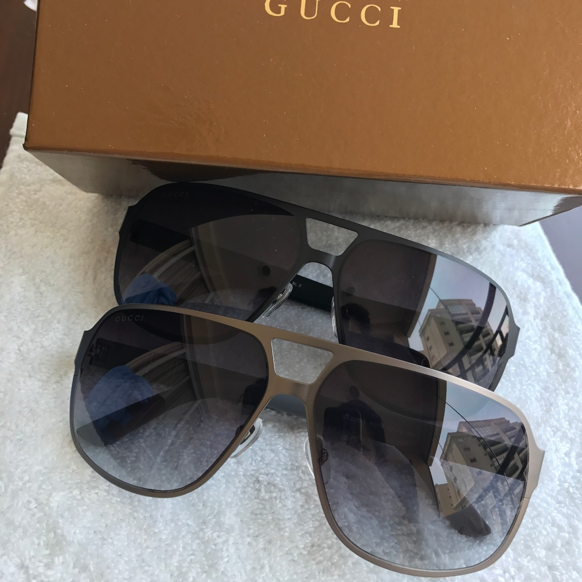 5e413c2cd7a84c  Óculos De Sol Masculino Gucci Titânio Metal Com Case - R  469,00 em . ... 05090744aa