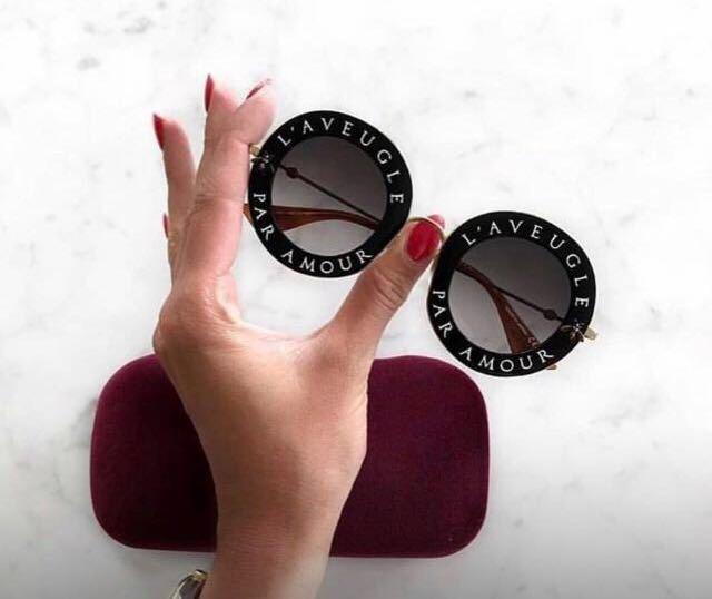 Óculos De Sol Gucci L Aveugle Redondo Round Feminino - R  429,00 em ... 46f4685c38