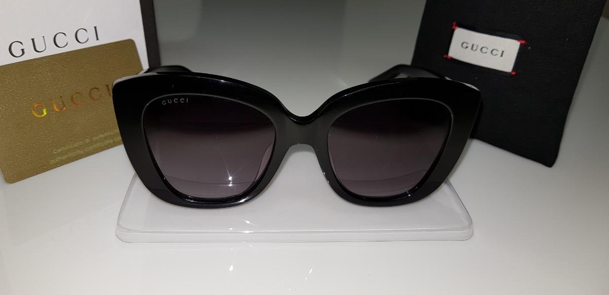 ec13d03cdb4b8 Óculos De Sol Gucci Gc0327s Preto E Lentes Cinza Original. - R  950,00 em Mercado  Livre