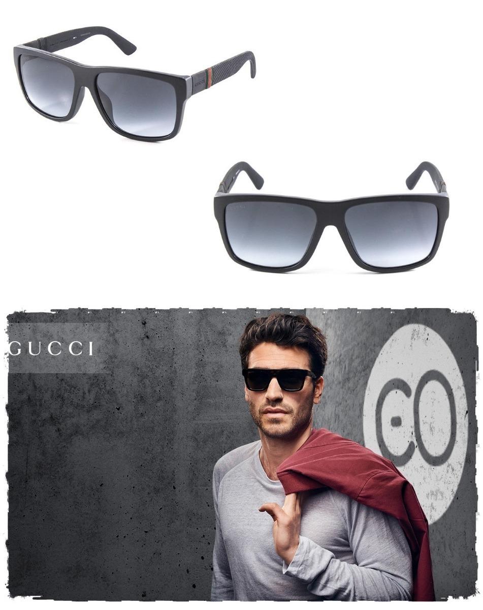 235a268974f70 Óculos Sol Gucci Gg1124 Luxo Fosco Justin 59mm Original - R  899,00 ...