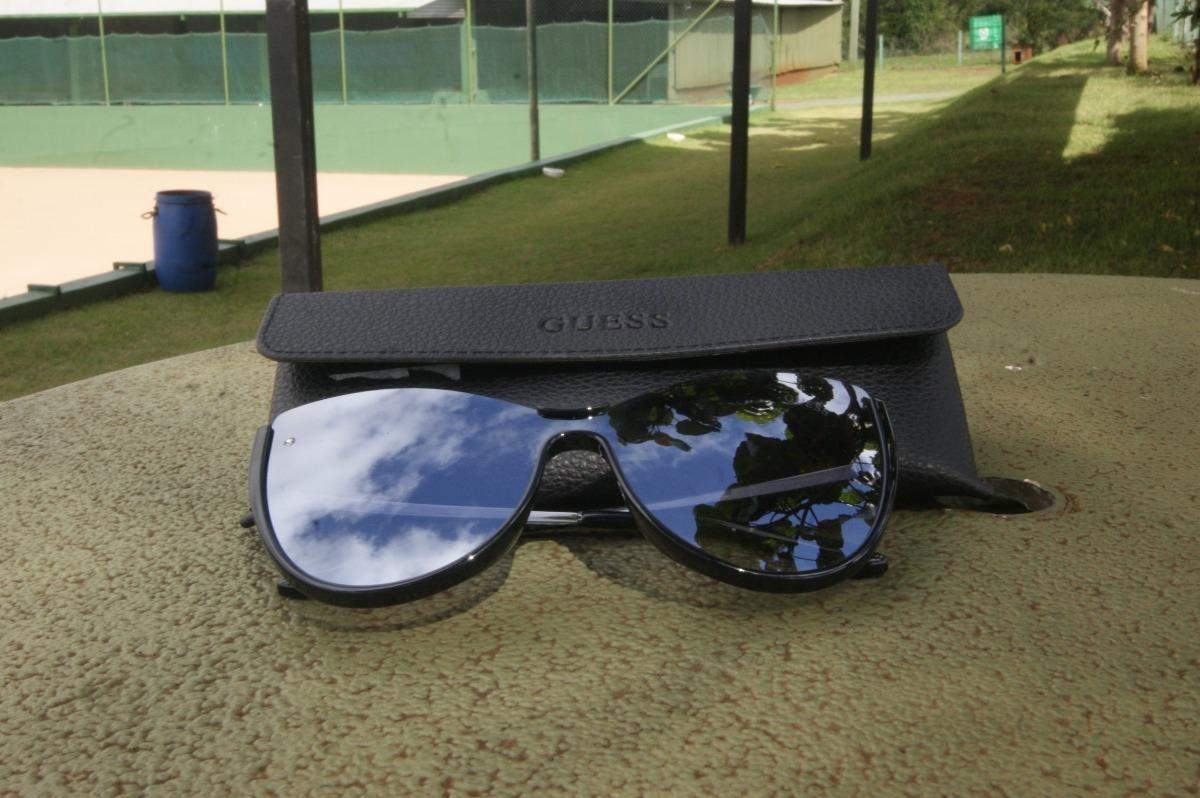 e9f53beada916 Oculos De Sol Guess Gu7569 01c Preto Espelhado Original - R  479