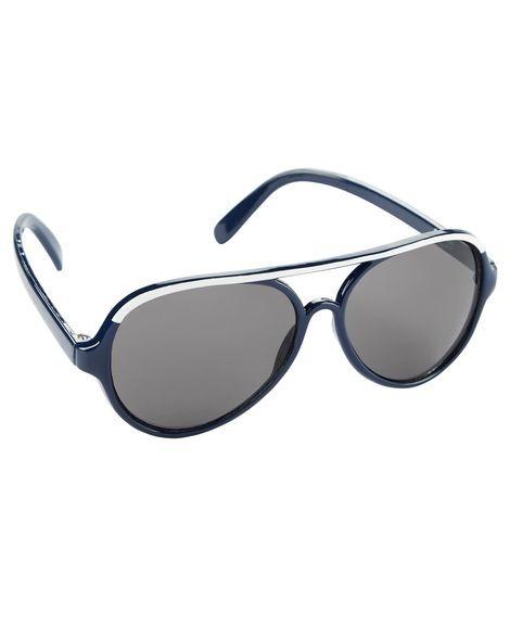 29410bf4c5c9d Óculos Sol Infantil Aviador Carters oshkosh Preto 4+ Anos - R  59,90 ...
