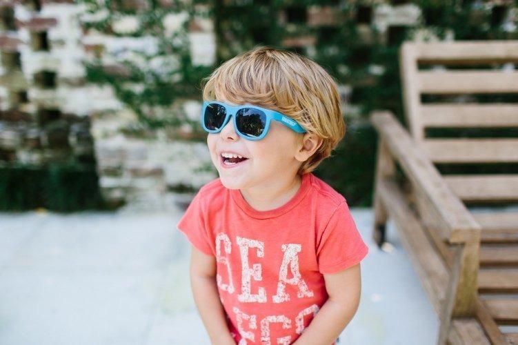 0434ad6f78d1a Óculos Sol Infantil Kids Babiators Navigator Azul 3-5 Anos - R  179 ...