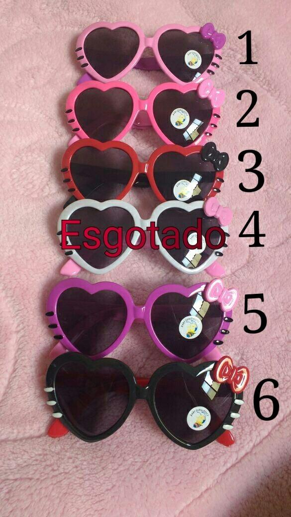 Óculos Sol Infantil Luxo Formato De Coração - R  15,00 em Mercado Livre 62d71126d8