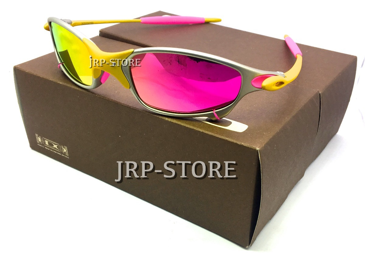 756095ffa oculos sol juliet 24k rosa pink xmetal brilho reto promoção. Carregando zoom .