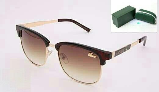 f737c702b1f76 Óculos De Sol Lacoste Feminino Marrom   Dourado Completo - R  189,00 ...