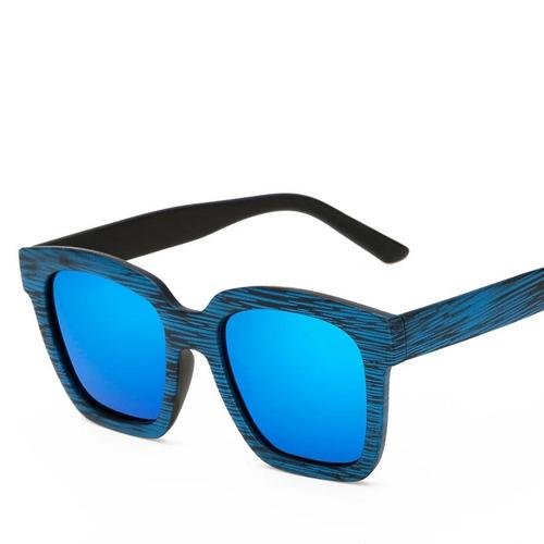 óculos sol madeira quadrado grande espelhado feminino barato