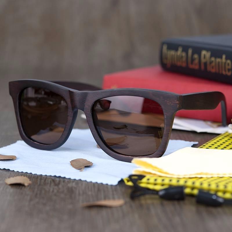 Óculos De Sol Armação De Bambu Marca De Luxo A.c Glasses - R  139,99 ... 173ba5e1b7