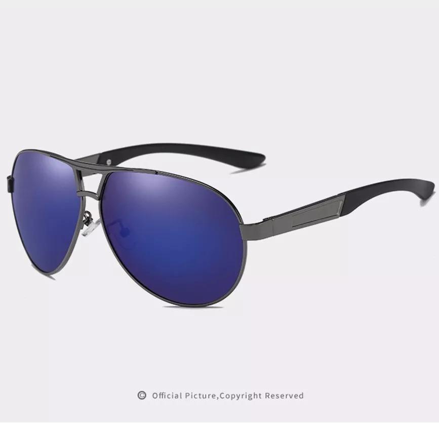 eaffe3658 óculos sol masculino esporte polarizado lentes uv400- azul §. Carregando  zoom.