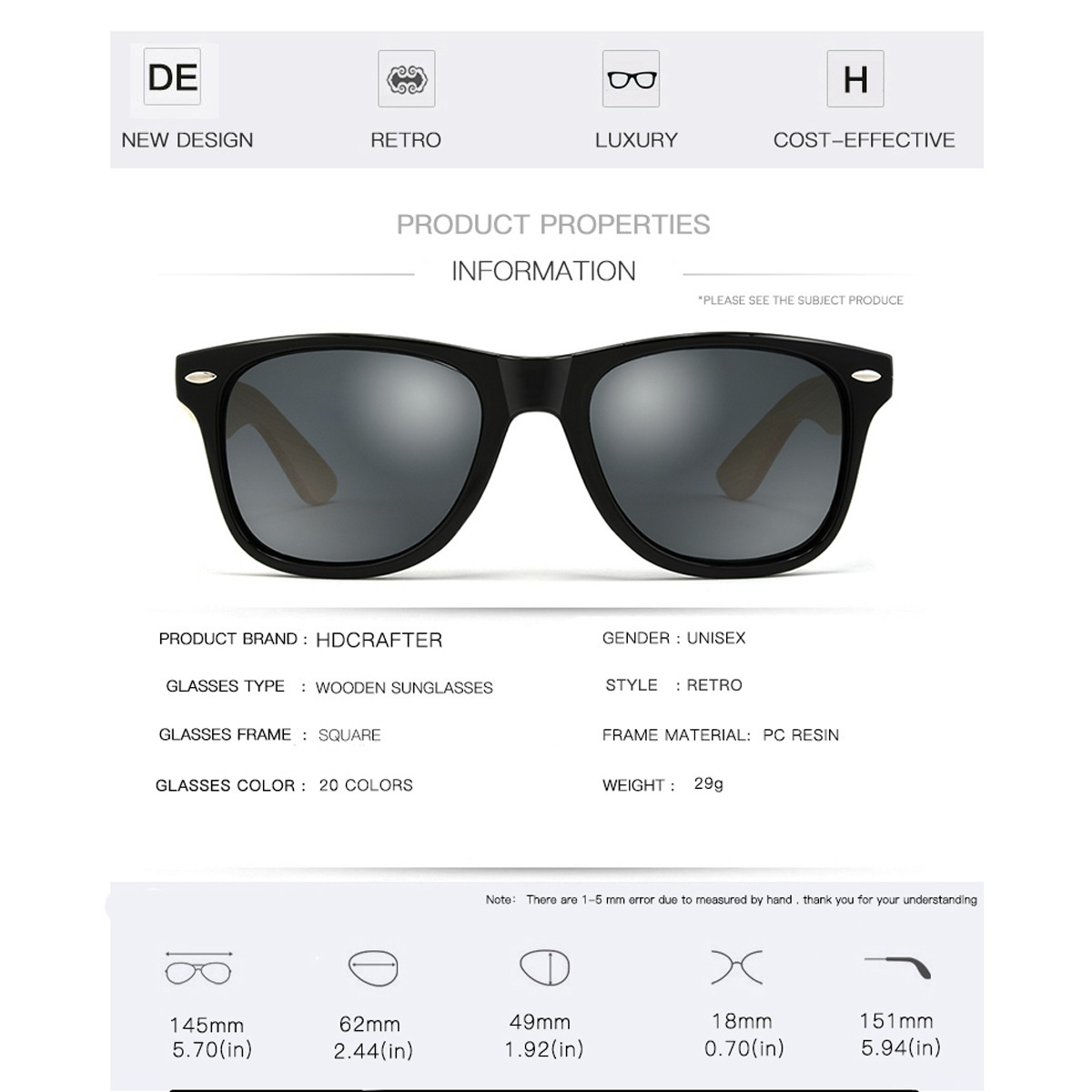 2a0b4a816e845 óculos sol masculino exclusive hd case geometric menor preço. Carregando  zoom.