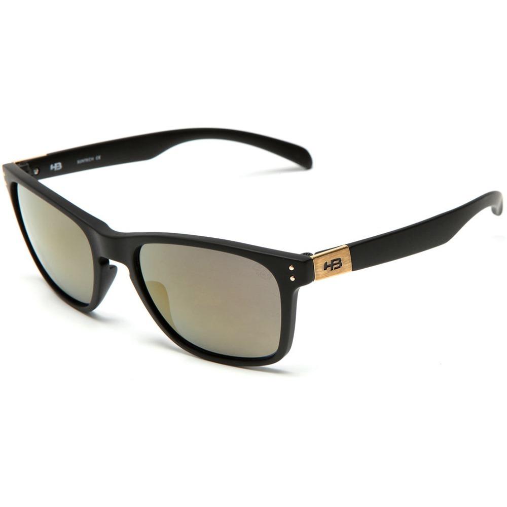 a25312543 Oculos Sol Masculino Hb Gipps 2.0 Espelhado Preto Fosco Gold - R ...