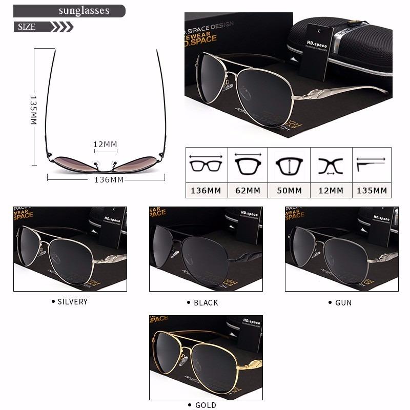 ee9afe780f5d7 óculos sol masculino hd space uv400 lente polarizada- fumê §. Carregando  zoom.