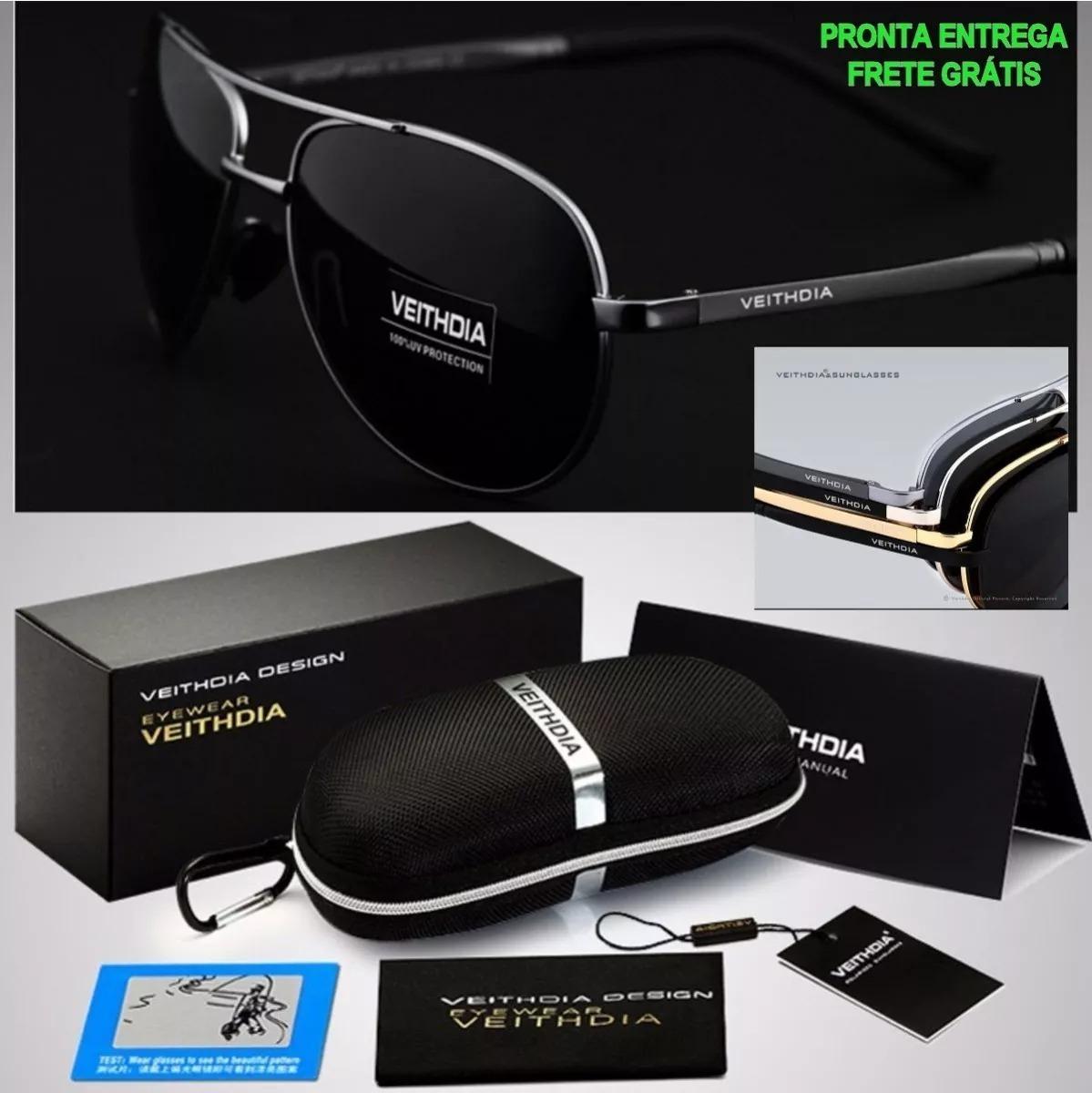 d389240bd oculos sol masculino lente polarizada uva uvb aviador- black. Carregando  zoom.