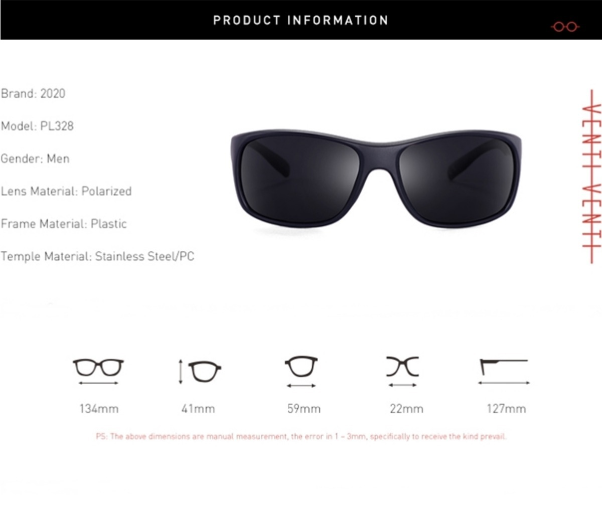 9b68595ae óculos sol masculino polarizado uv400 20/20 pl328 promoção. Carregando zoom.