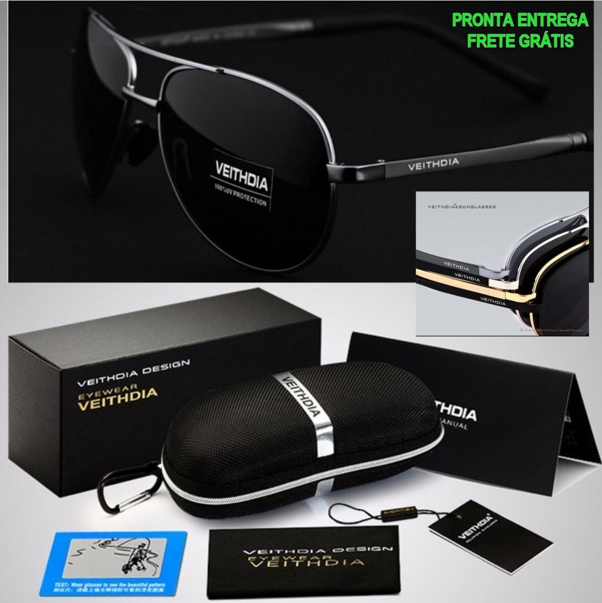 b3450d963 Oculos Sol Masculino Premium Lente Polarizado Uv400-silver § - R ...