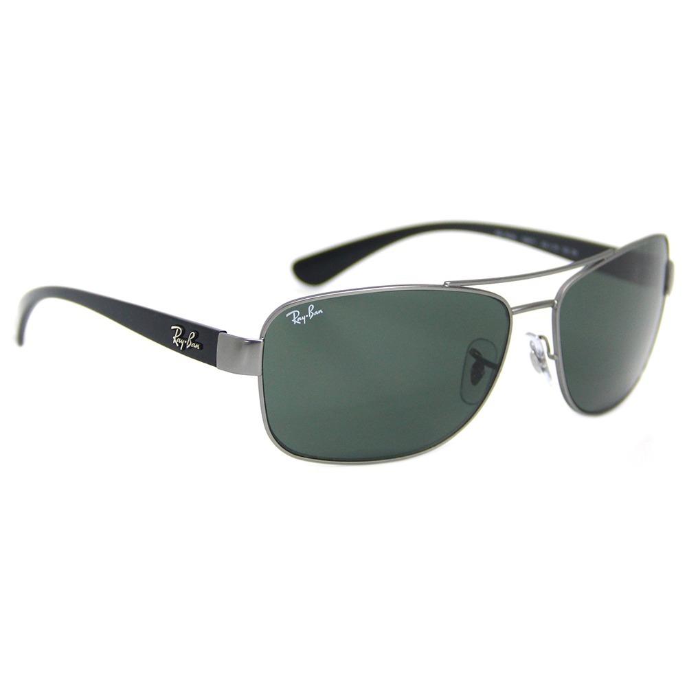 ad22fe48225ab óculos sol masculino ray ban 3518 + brinde limpa lentes. Carregando zoom.