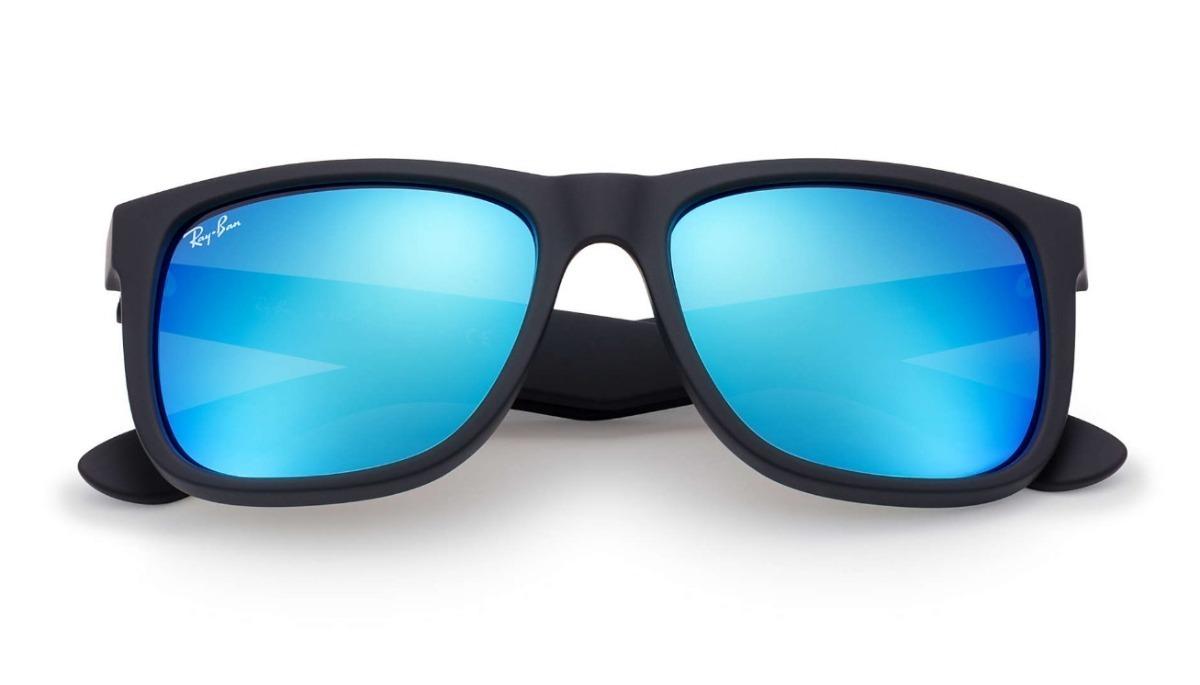 óculos sol masculino ray ban justin rb4165 azul espelhado. Carregando zoom. 8dc6579d66