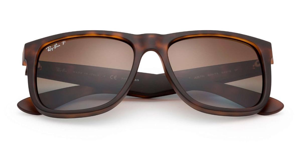 c26d57858 óculos sol masculino ray ban justin rb4165 azul espelhado. Carregando zoom.
