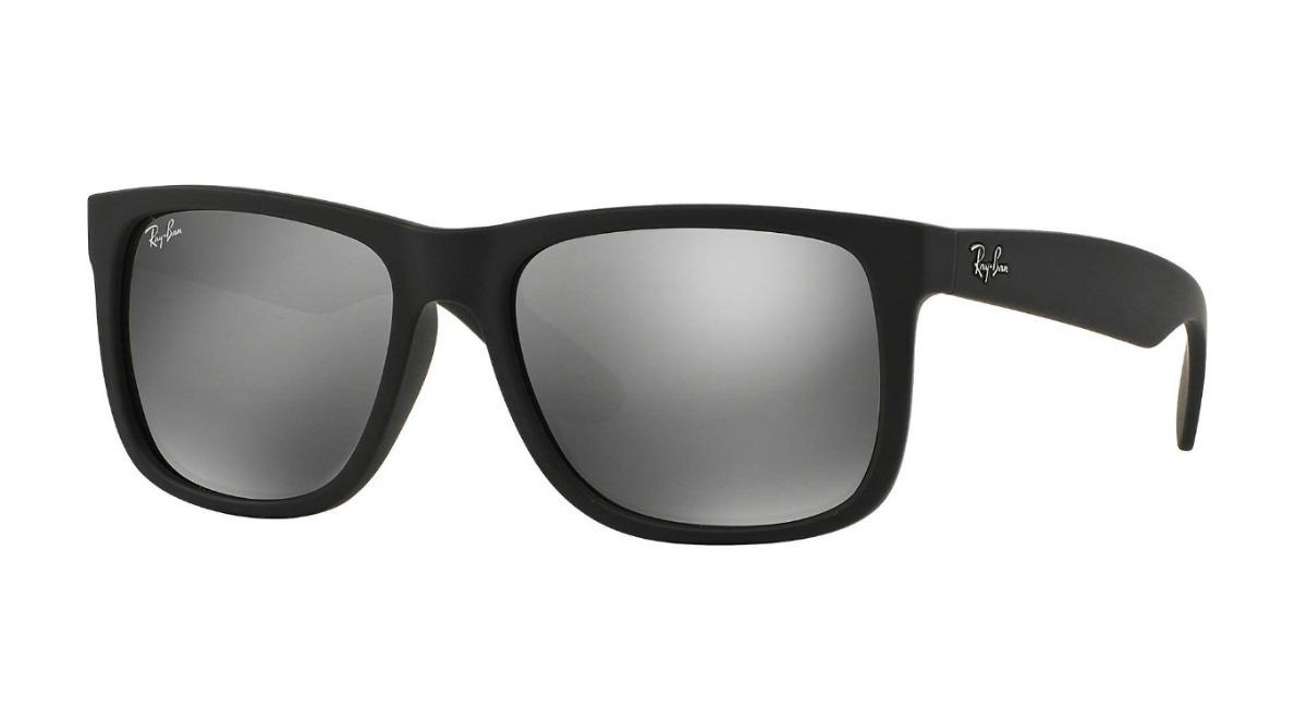 Óculos Sol Masculino Ray Ban Justin Rb4165 Prata Espelhado - R  259 ... a88d8e1034