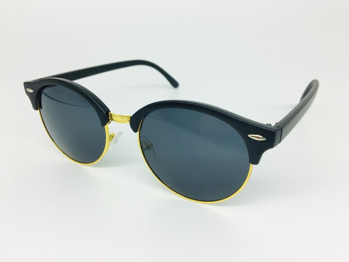 3f5024504f593 Óculos Sol Masculino Redondo Proteção Uv400 Feminino+ Estojo - R  78 ...