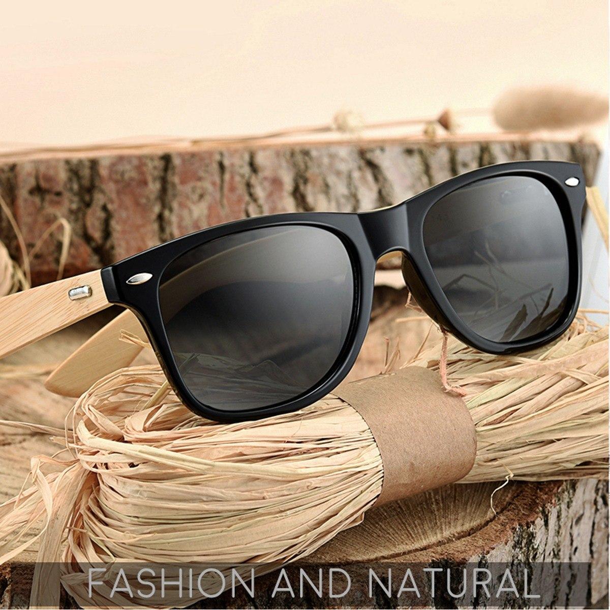 3fd81d051 Carregando zoom... óculos sol masculino redondo uv400 armação madeira hd