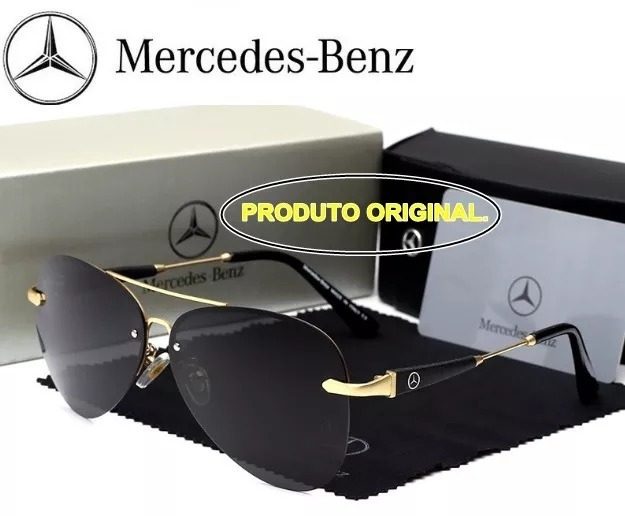 8e9f87c22b4e7 Óculos Sol Mercedes- Benz Lentes Polarizadas Uv400- Original - R ...