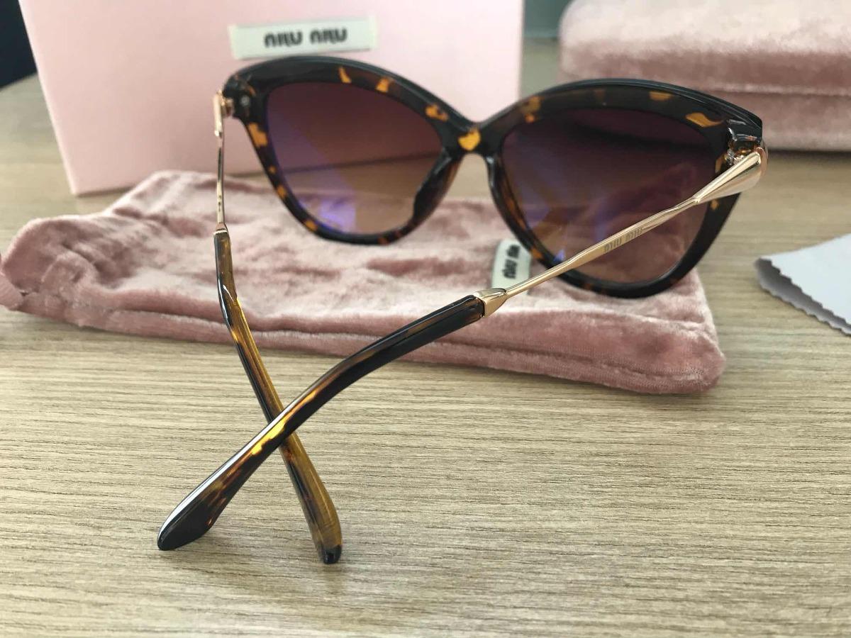 Óculos De Sol Miu Miu Tartaruga Gatinho Xh - R  279,00 em Mercado Livre 6106289da9
