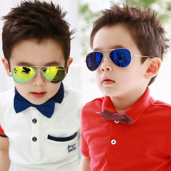 a222afcd4 Óculos Sol Modelo Aviador Infantil Amarelo Espelhado Criança - R$ 31 ...