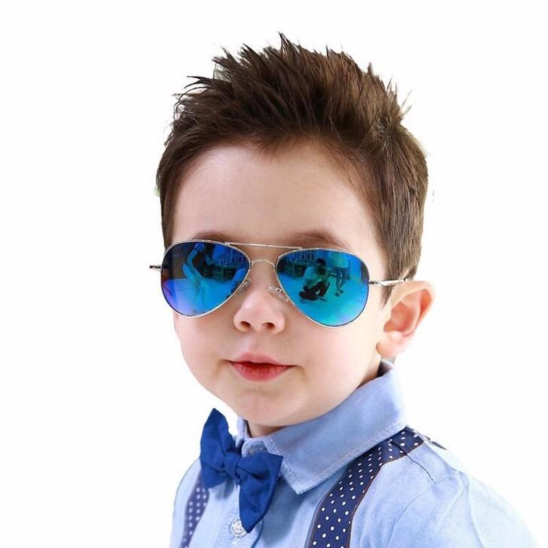 óculos sol modelo aviador infantil azul espelhado crianças. Carregando zoom. bb5de19ba2