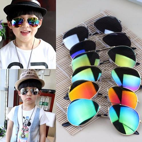 0f8e2705e Óculos Sol Modelo Aviador Infantil Azul Espelhado Crianças - R$ 30 ...