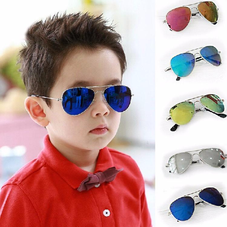 d1832f641 Óculos Sol Modelo Aviador Infantil Azul Espelhado Crianças - R$ 30 ...