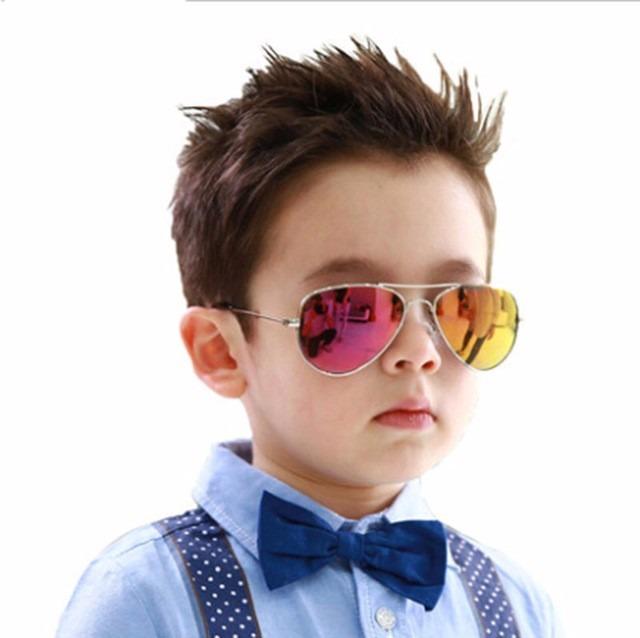 1fb0fcfb6 Oculos Sol Modelo Aviador Infantil Rosa Espelhado Criancas - R$ 37 ...