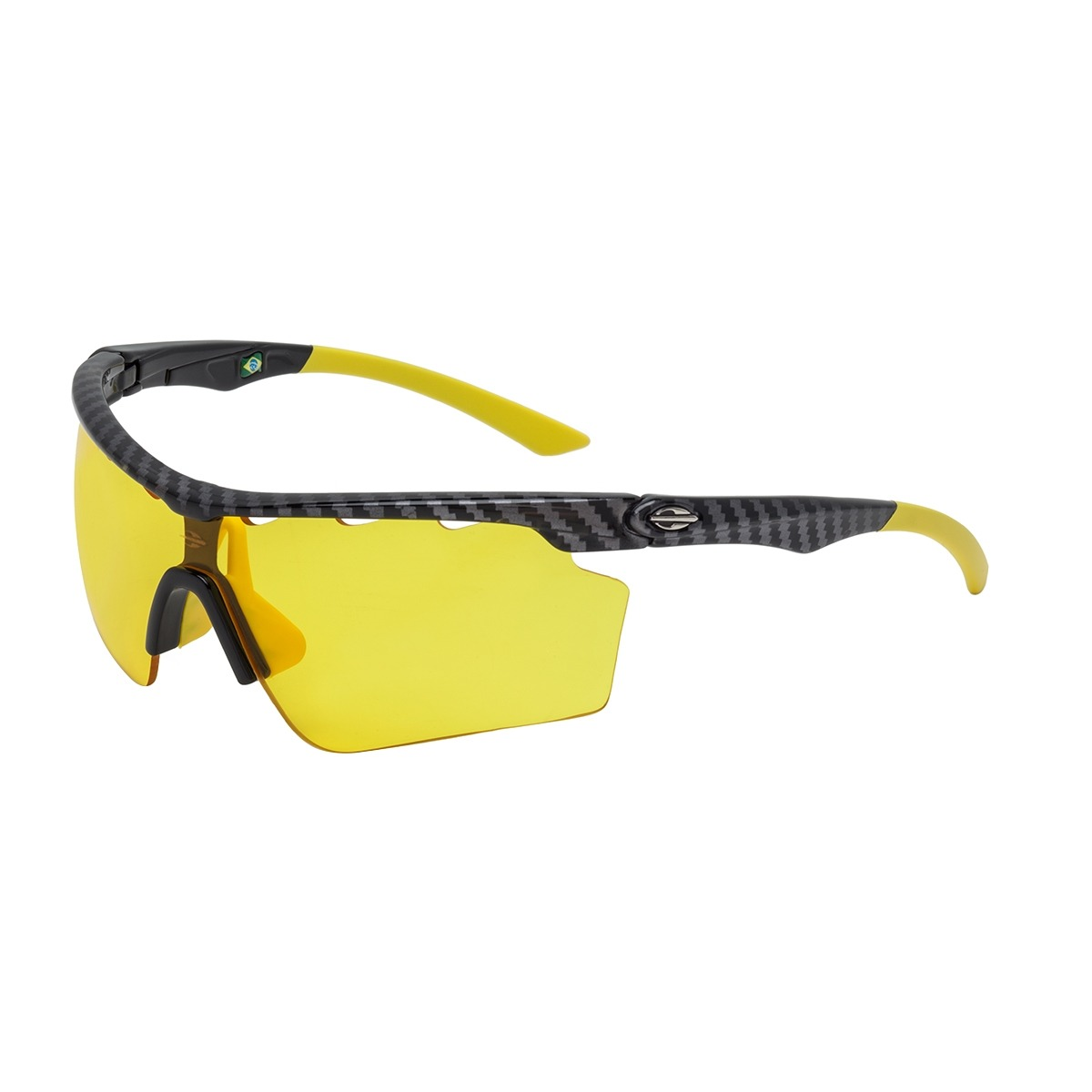 9246aafa0da41 Óculos De Sol Mormaii Athlon V Preto Carbono E Lente Amarela - R ...