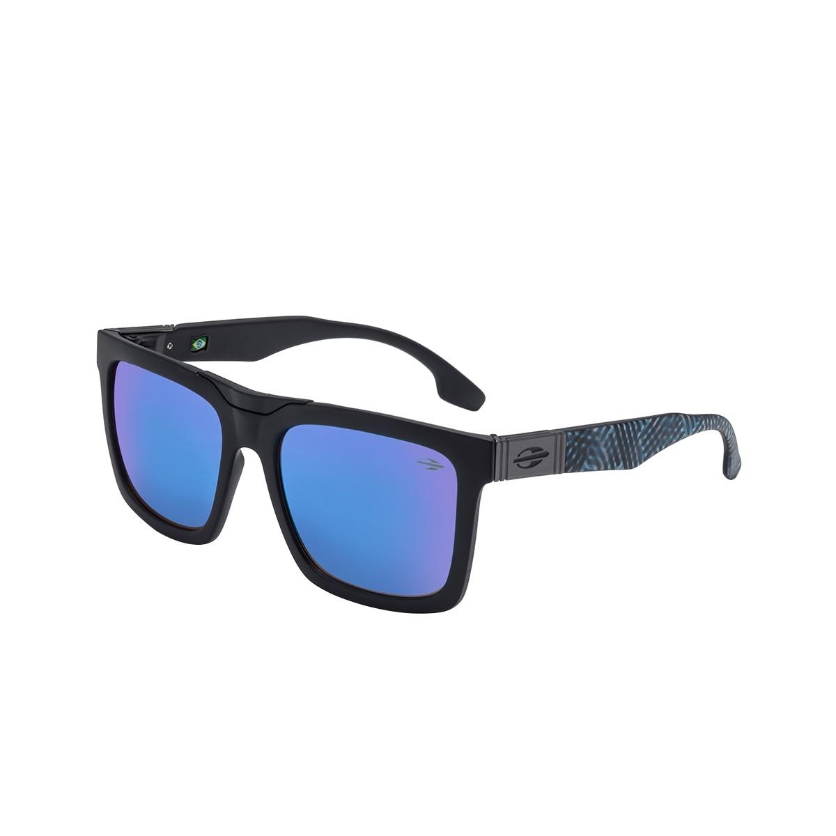 1d2e658392f67 Óculos De Sol Long Beach Preto Lente Espelhada Azul Mormaii - R  258 ...