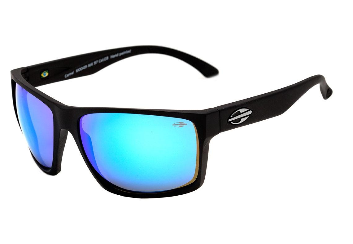9c9fee461 Óculos De Sol Mormaii Carmel Preto Lente Azul Espelhado - R$ 299,00 ...