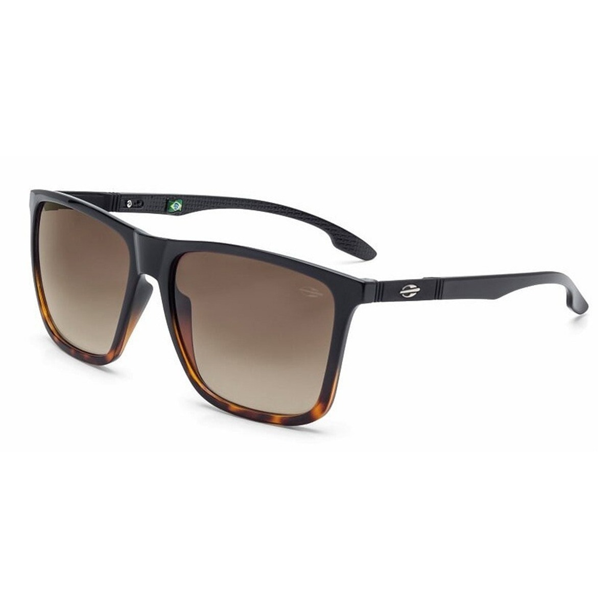 fa465968baf74 Oculos Sol Masculino Mormaii Hawaii Preto Degrade Marrom - R  289