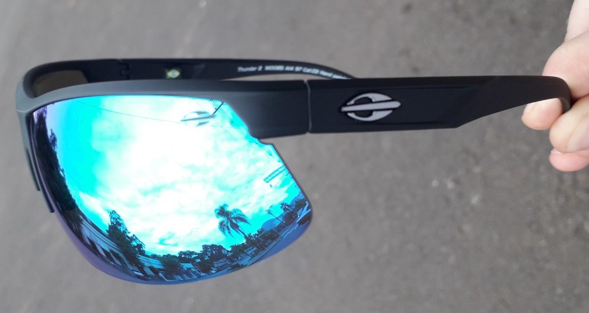 54cf16eeb óculos sol mormaii thunder 2 preto fosco lent espelhada azul. Carregando  zoom.