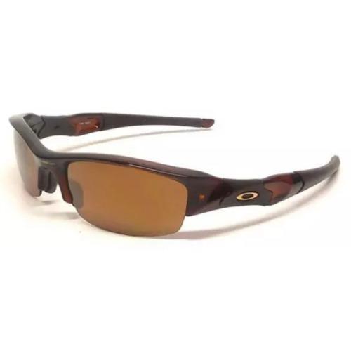 da2f8b899afa6 Óculos De Sol Oakley Flak Jacket Marrom Polarizado Original - R  599 ...