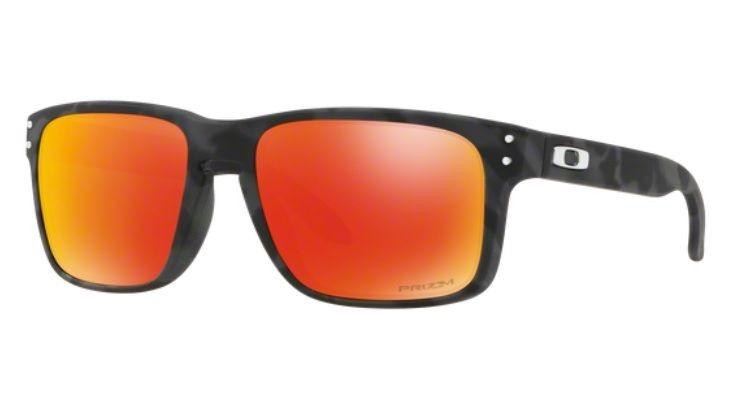 c318f40b1 Oculos Sol Oakley Holbrook 9102 E955 Camuflad Vermelho Prizm - R ...