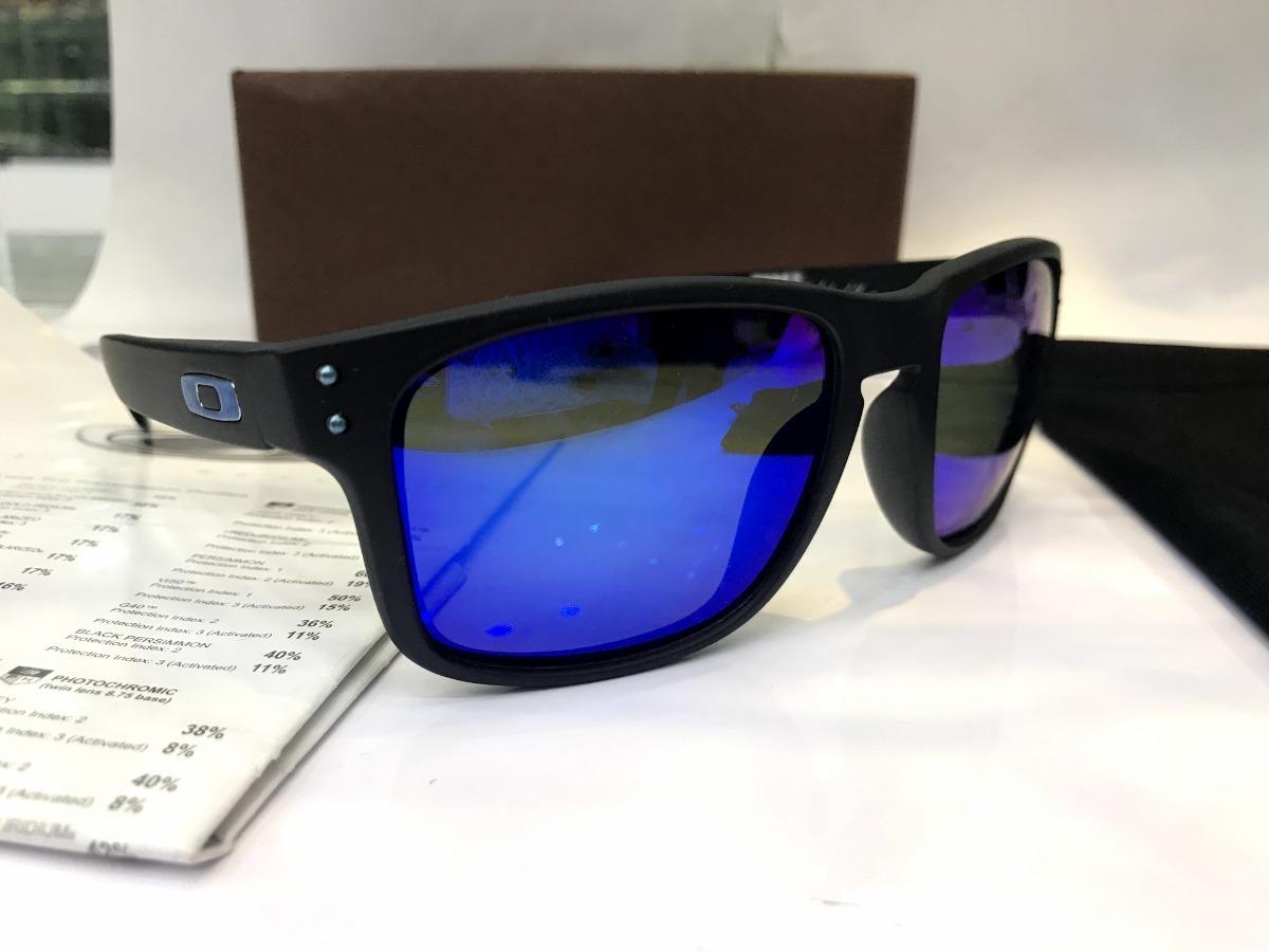 0e39ef458 óculos sol oakley holbrook azul espelhado 100% polarizado. Carregando zoom.
