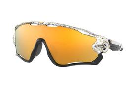 61dbe8532 Oculos Sol Oakley Jaw Breaker Oo9290 45 Branco L Dourada Esp