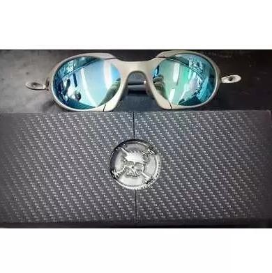 Oculos De Sol Oakley Juliet Romeu1 Cinza Lente Azul - R  120,00 em ... f7a62c146a