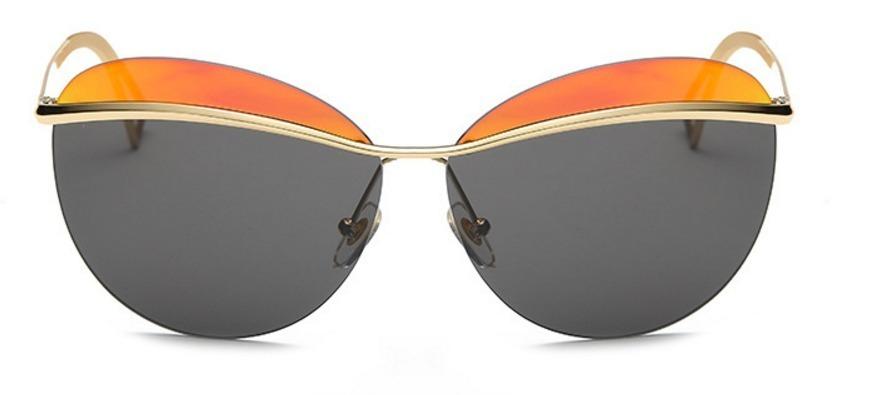 4129547b1cf70 óculos sol oval feminino espelhado redondo gatinho 2 cores. Carregando zoom.