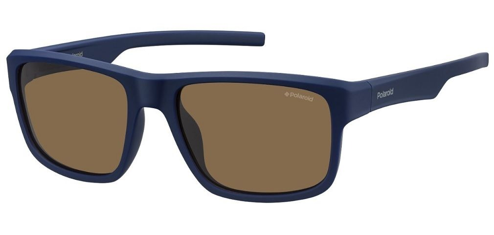 df74d6a98c Oculos Sol Polaroid Pld3018s Jc9ig Azul Fo Marrom Polarizada - R ...