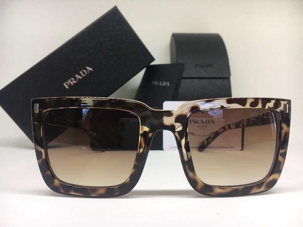 Oculos De Sol Feminino Prada Original Preto Frete Gratis - R  389,00 ... 2cb357c369