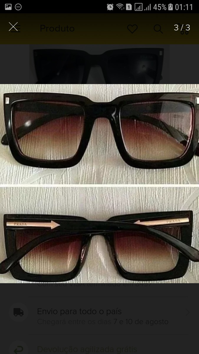 2292cfe306113 ... óculos de sol feminino prada top · óculos sol prada. Carregando zoom.