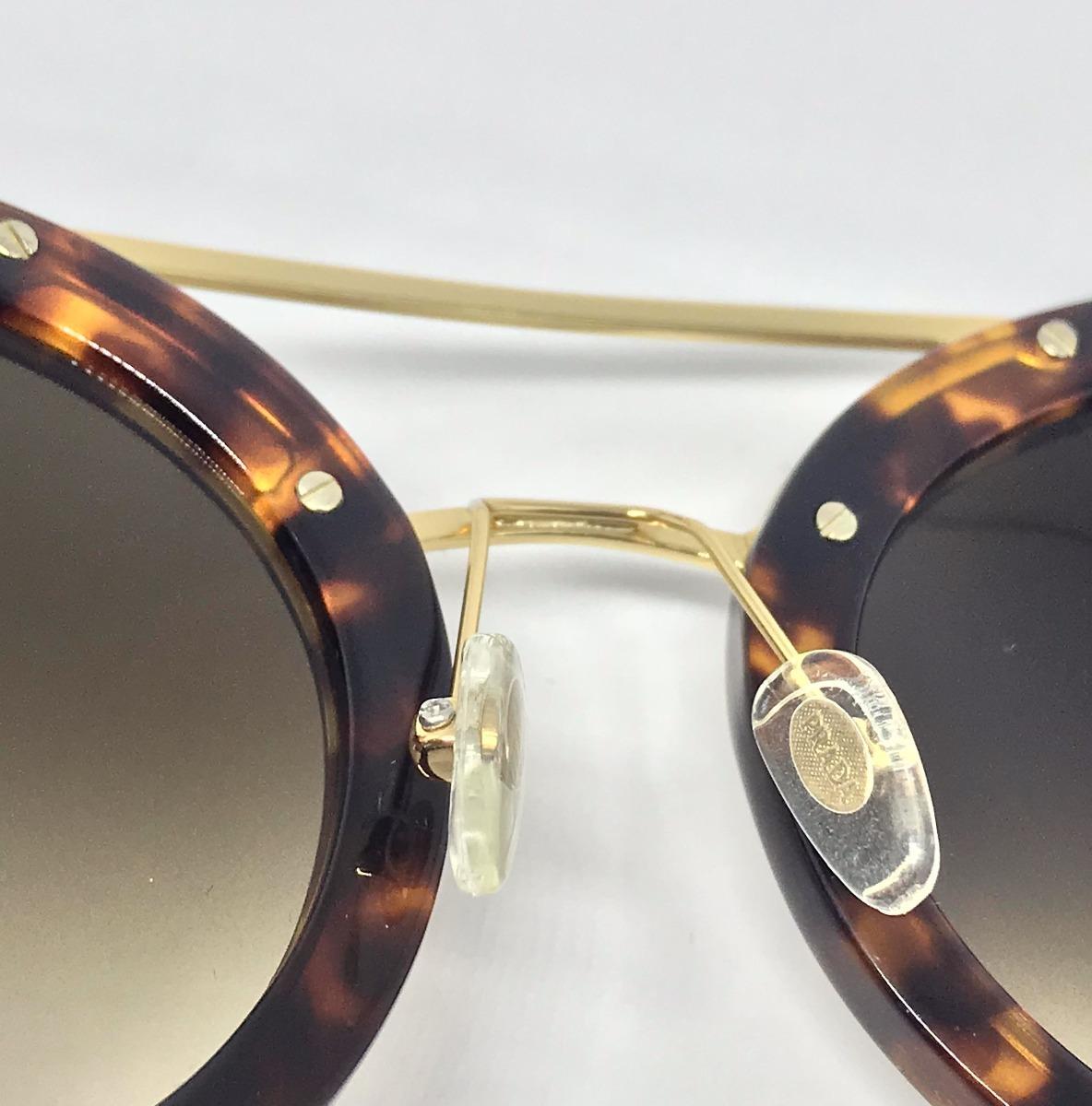 8ecae293f8b00 Óculos De Sol Prada Baroque Pr13ss Brown Pink - R  550