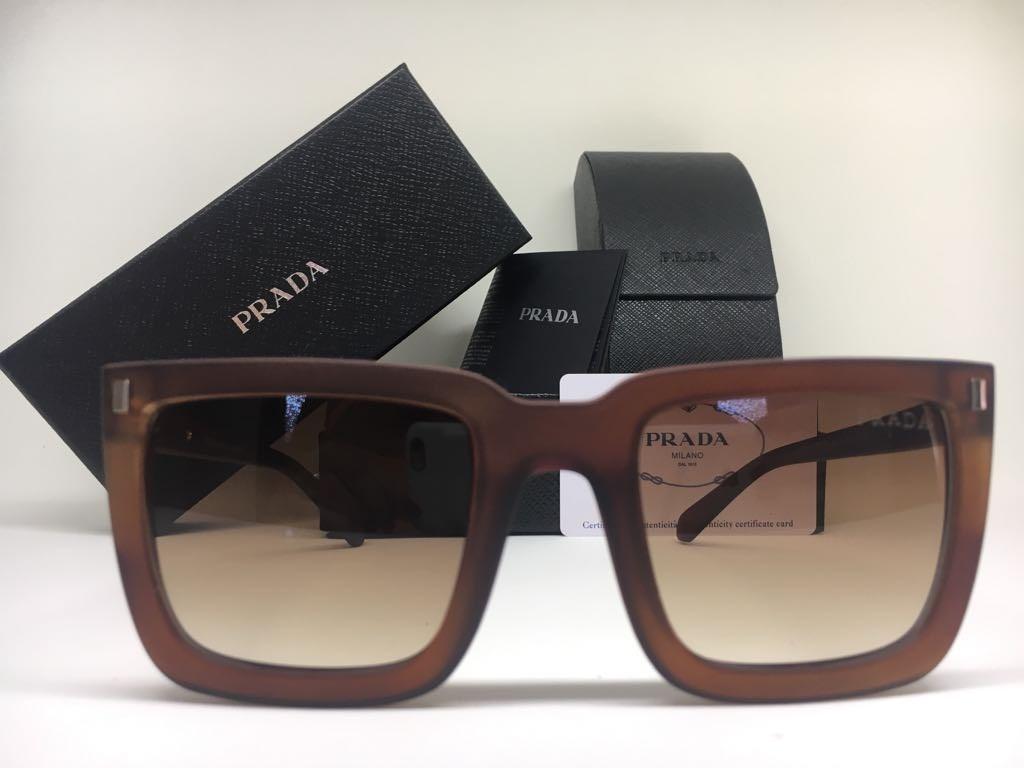 022bbc2c0e37c Oculos De Sol Feminino Prada Original Quadrado Frete Gratis - R  379 ...