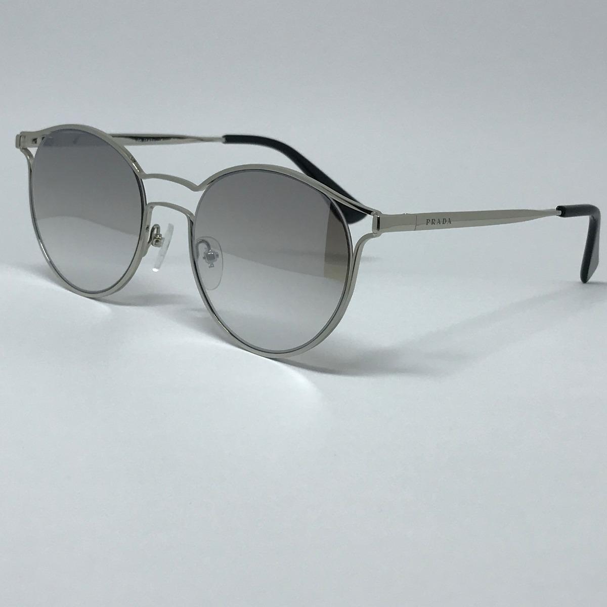 49595a64f3a79 Óculos De Sol Prada Pr62ss Prata Original - R  400